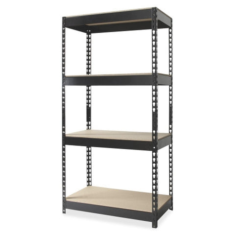 Hirsh Rivet Shelf Unit HID17125, Black (UPC:029404171253)
