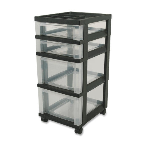 IRIS USA Mini Storage Cart IRS116827, Black (UPC:762016436012)