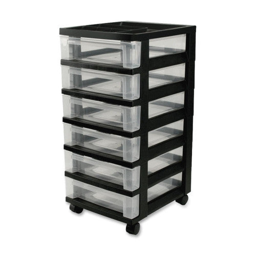 IRIS USA Mini Storage Cart IRS116833, Black (UPC:762016436029)