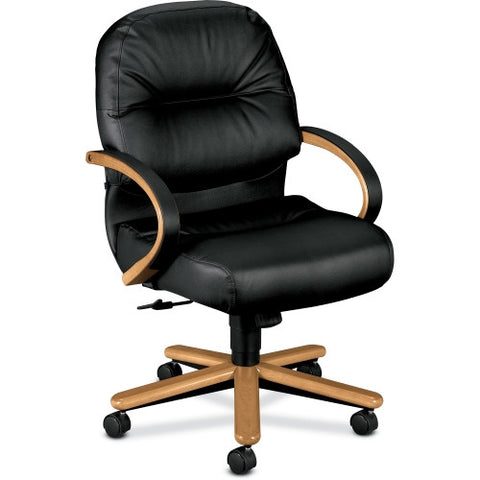 HON Pillow-Soft 2192 Mid Back Management Chair HON2192CSR11, Black (UPC:089192757701)