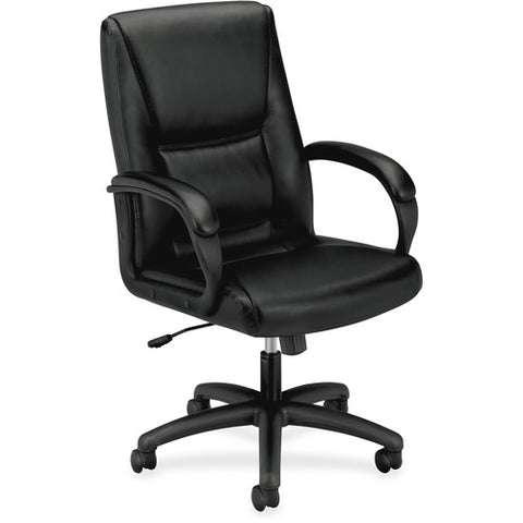 basyx by HON HVL161 Executive High-Back Chair BSXVL161SB11, Black (UPC:641128199216)