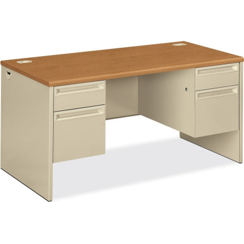 HON 38155 Pedestal Desk with Lock HON38155CL, Putty (UPC:089192073047)