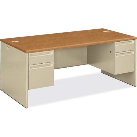 HON 38180 Pedestal Desk HON38180CL, Putty (UPC:089192076864)