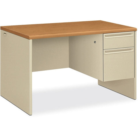 HON 38251 Pedestal Desk with Lock HON38251CL, Putty (UPC:089192141289)