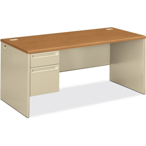 HON 38292L Pedestal Desk with Lock HON38292LCL, Putty (UPC:089192141470)