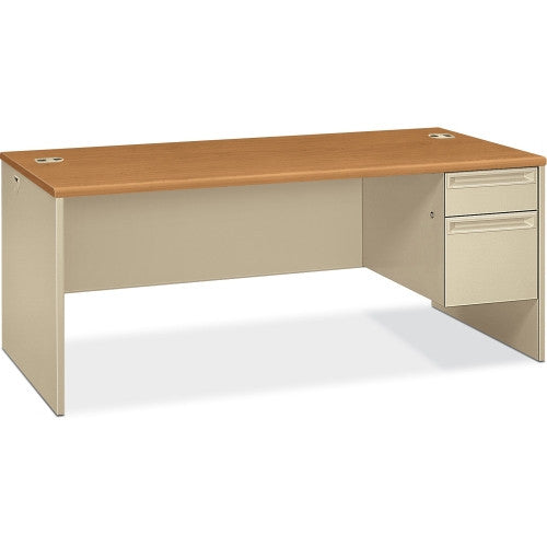 HON 38293R Pedestal Desk with Lock HON38293RCL, Putty (UPC:089192141364)
