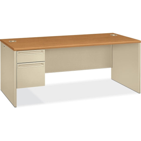 HON 38294L Pedestal Desk with Lock HON38294LCL, Putty (UPC:089192141449)
