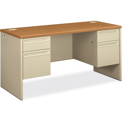 HON 38852 Kneespace Credenza with Lock HON38852CL, Putty (UPC:089192141616)