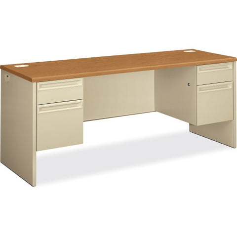 HON 38854 Kneespace Credenza with Lock HON38854CL, Putty (UPC:089192141708)