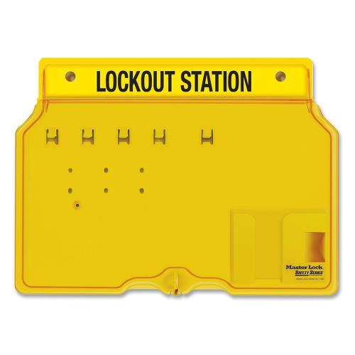 Master Lock Unfilled Padlock Lockout Station with Cvr MLK1482B ; UPC: 071649226281