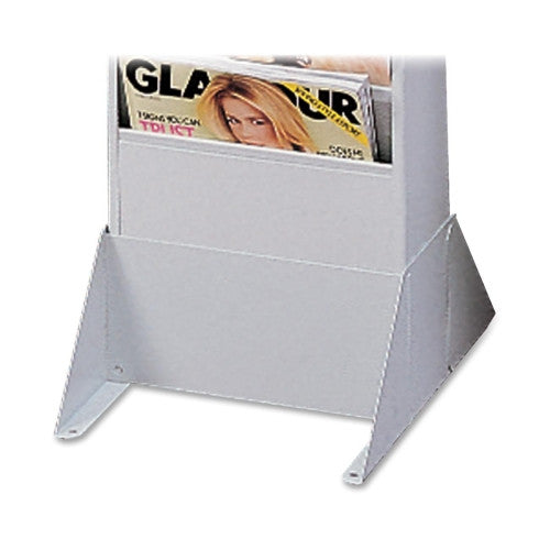 Buddy Literature Rack Base BDY081732, Silver (UPC:025719081782)