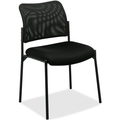 basyx by HON HVL506 Mesh Back Stacking Guest Chair BSXVL506MM10, Black (UPC:089191739685)