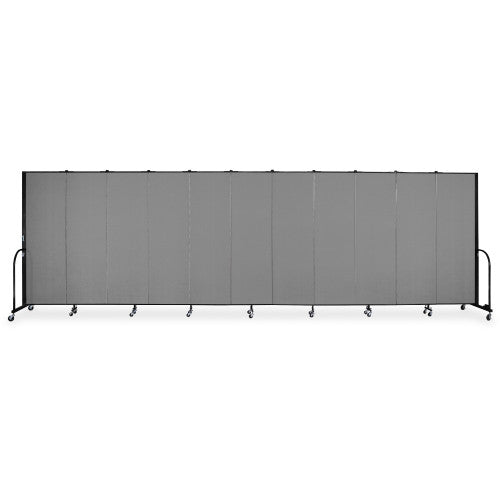 Screenflex FREEstanding 11 Panels Portable Partition SCXCFSL6011DG, Gray (UPC:683235135121)