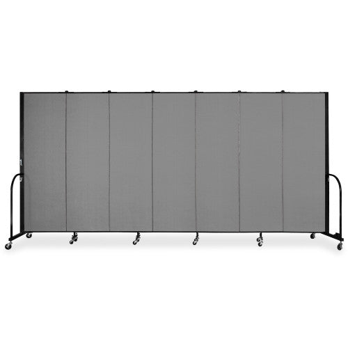 Screenflex FREEstanding 7 Panels Portable Partition SCXCFSL607DG, Gray (UPC:683235133127)