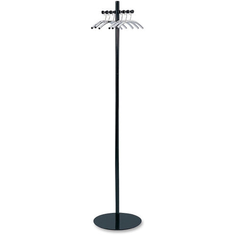 Safco 4192 Nail Head Coat Rack ; (073555419207); Color:Black,Silver