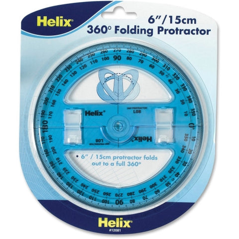 Helix Folding Protractor ; (079252120811); Color:Clear