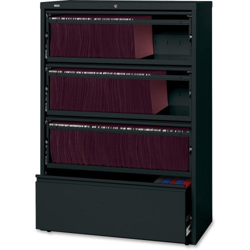 Lorell Receding Lateral File with Roll Out Shelves ; UPC: 035255435116