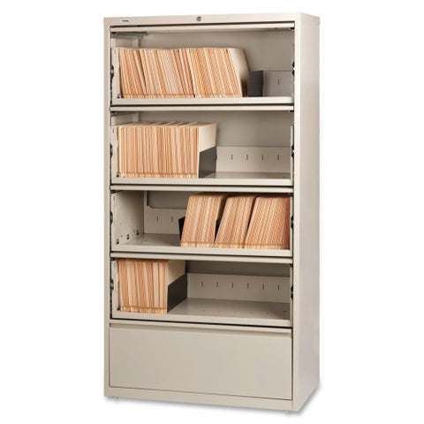 Lorell Receding Lateral File with Roll Out Shelves ; UPC: 035255435123