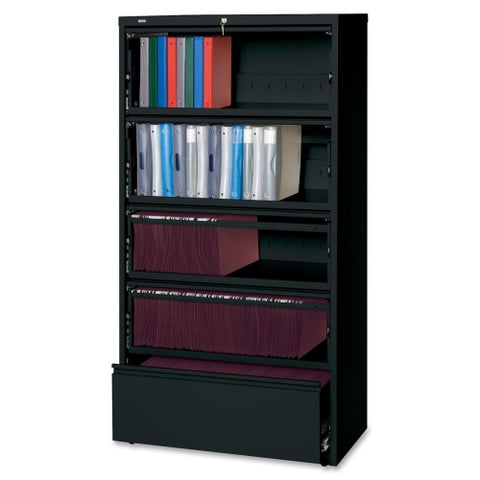 Lorell Receding Lateral File with Roll Out Shelves ; UPC: 035255435130