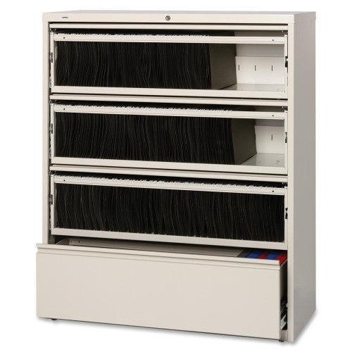 Lorell Receding Lateral File with Roll Out Shelves ; UPC: 035255435147