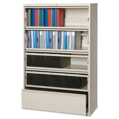 Lorell Receding Lateral File with Roll Out Shelves ; UPC: 035255435161