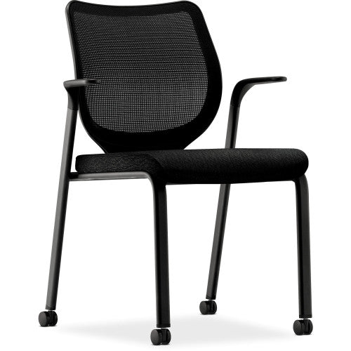 HON Iliria-stretch M4 Multipurpose Stacking Chair HONN606NT10, Black (UPC:645162540775)
