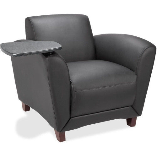 Lorell Reception Seating Chair with Tablet ; UPC: 035255689533