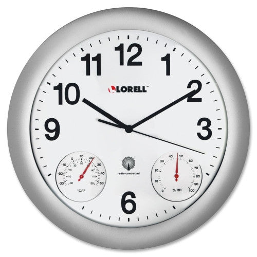 Lorell Analog Temperature/Humidity Wall Clock ; (035255610001)