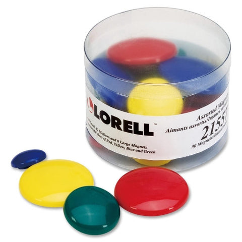 Lorell Tub of Assorted Magnet ; UPC: 035255215572