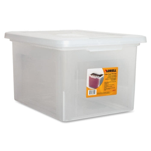 Lorell Letter/Legal Plastic File Box ; UPC: 035255689250