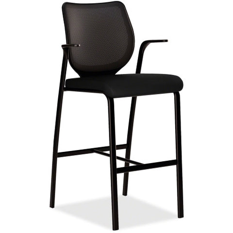 HON Nucleus HN7 Cafe Height Stool HONN709NT10, Black (UPC:089192263592)