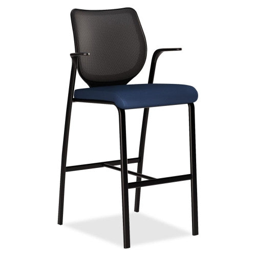 HON Nucleus HN7 Cafe Height Stool HONN709NT90, Blue (UPC:089192264117)