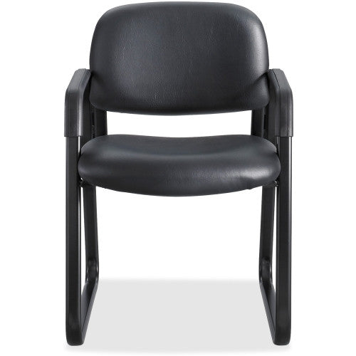 Safco Cava Urth Sled Base Guest Chair SAF7047BV, Black (UPC:073555704761)