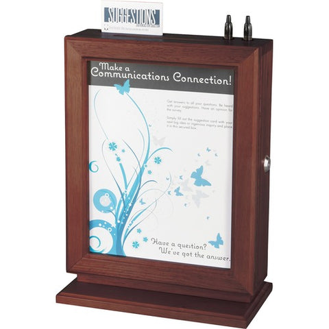 Safco Products Personalizable Wood Suggestion Box 4236MH(Image 2)