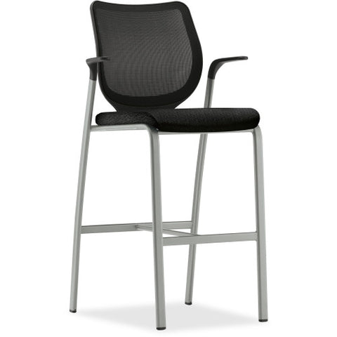 HON Iliria-stretch M4 Back Cafe-Height Stools HONN709NT10T1, Black (UPC:791579258465)