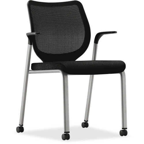 HON Iliria-stretch M4 Multipurpose Stacking Chairs HONN606NT10T1, Black (UPC:645162509116)