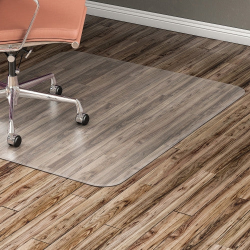 Lorell Nonstudded Design Hardwood Surface Chairmat ; UPC: 035255828277
