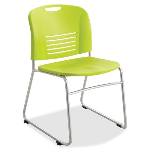 Safco Vy Sled Base Stack Chairs SAF4292GS, Green (UPC:073555429275)