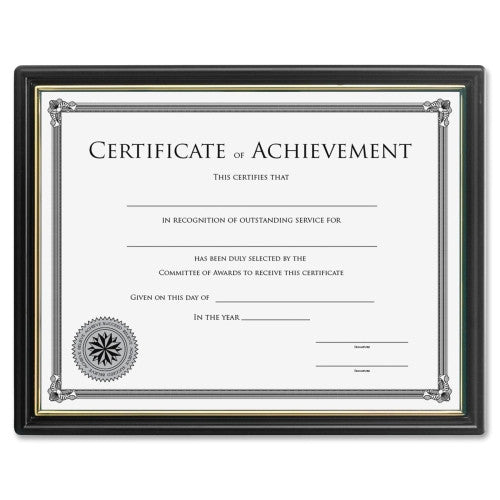 Lorell Ready-to-use Frame with Certificate of Achievement ; UPC: 035255318815