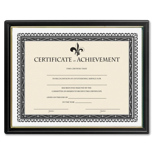 Lorell Certificate of Achievement Black Frame ; UPC: 035255318853