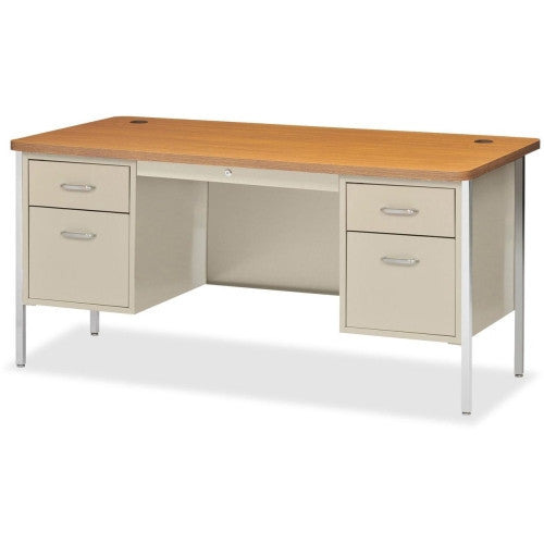 Lorell Fortress Series Double Ped Teacher's Desk ; UPC: 035255413022