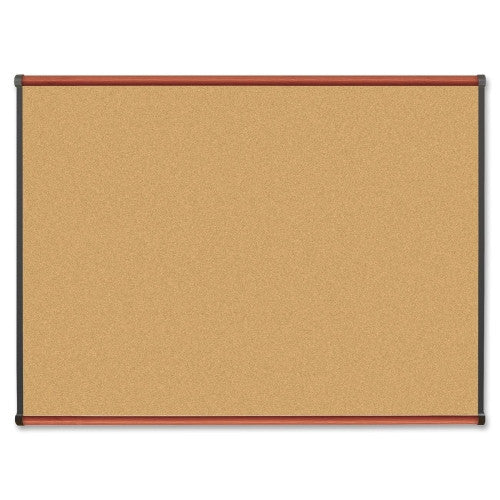Lorell Cherry Finish Natural Cork Board ; UPC: 035255606417