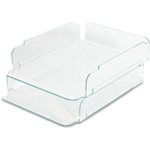 Lorell Stacking Letter Trays ; UPC: 035255806558
