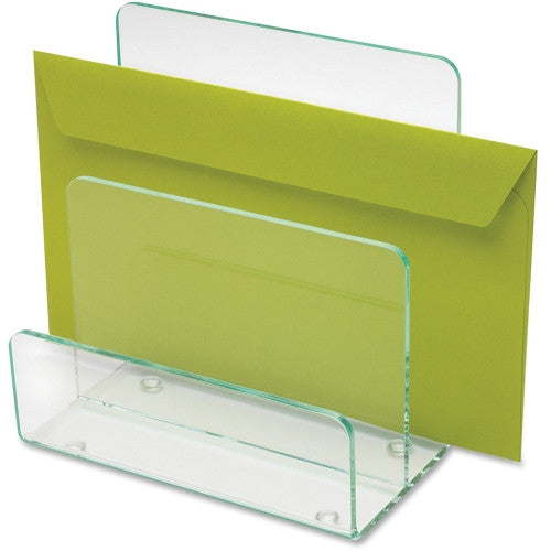 Lorell Acrylic Transp. Green Edge Mini File Sorter LLR80659, Green (UPC:035255806596)