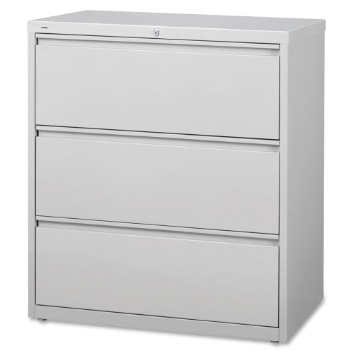 Lorell 3-Drawer Lt. Gray Lateral Files LLR88029, Gray (UPC:035255880299)