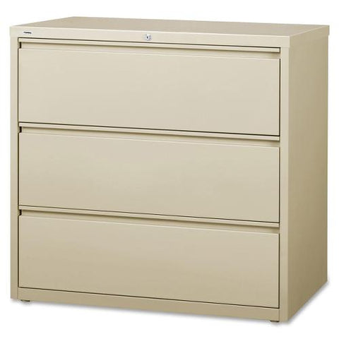 Lorell 3-Drawer Putty Lateral Files LLR88030 ; UPC: 035255880305