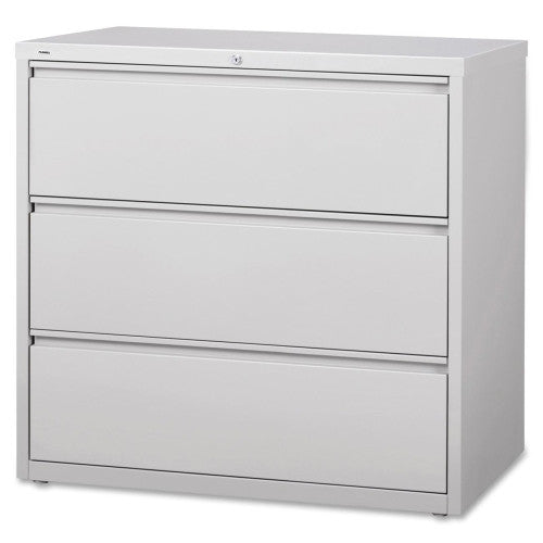 Lorell 3-Drawer Lt. Gray Lateral Files LLR88032, Gray (UPC:035255880329)