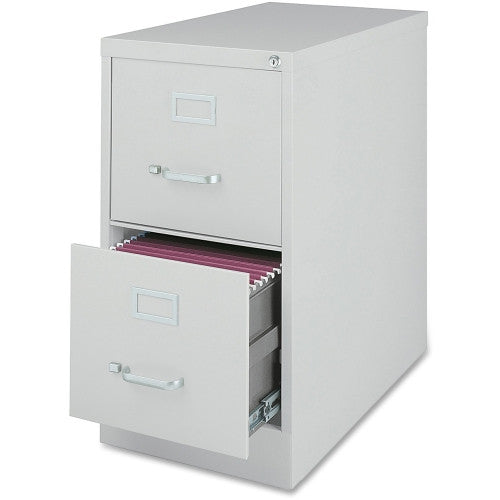 Lorell Fortress Series 28.5'' Letter-size Vertical Files LLR88035, Gray (UPC:035255880350)