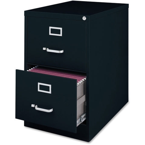 Lorell Commercial Grade 28.5'' Legal-size Vertical Files LLR88043, Black (UPC:035255880435)