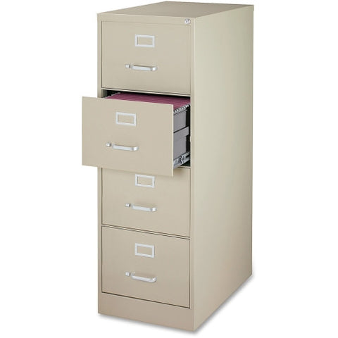 Lorell Commercial Grade 28.5'' Legal-size Vertical Files LLR88045, Putty (UPC:035255880459)